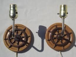 Nautical Wall Sconce Wood Ship U0027s Wheel Wall Sconce Lamps Vintage Sconces W Nautical Theme