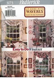sewing patterns home decor oop butterick sewing pattern window treatment home décor you pick