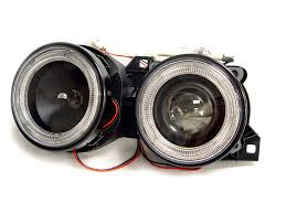 1991 bmw e30 3 series depo angel eye projector glass lens headlights