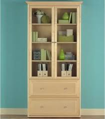 cherry bookcases with glass doors cherry bookcase with doors