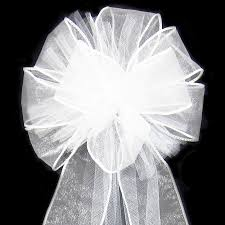 wedding bows wired ivory wedding lace bow church pew decorations this was so