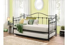 Single Metal Day Bed Frame Birlea Torino 3ft Single Black Metal Day Bed Frame With Trundle By