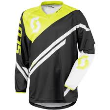 cheap motocross gear online scott 350 race jersey blue yellow offroad jerseys 100 quality