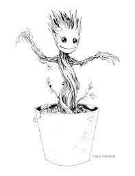 guardians of the galaxy rocket and groot coloring page printable