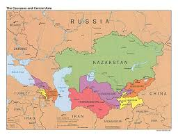 Central America Map And Capitals by Large Detailed Political Map Of The Caucasus And Central Asia With