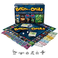 halloween skeleton game late for the sky boo opoly board game walmart com