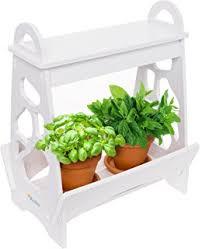 Indoor Herb Garden Light Amazon Com Fresco Indoor Gardening Kit Hydroponics Soil Based