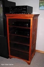 Audio Cabinets With Glass Doors Mahogany Audio Cabinets