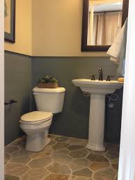 Powder Room Flooring Neat Wall Trim The Flooring Is Awful Though Even Worse Irl Than