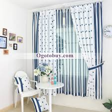 Blue And White Striped Drapes Blue And White Polka Dots And Striped Curtains Buy Blue Thermal