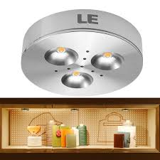 under cabinet lighting puck 3w led under cabinet lighting 240lm 12vdc 3000k puck light le