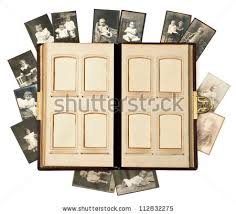 antique photo album open antique photo album pages baby stock photo 112832275