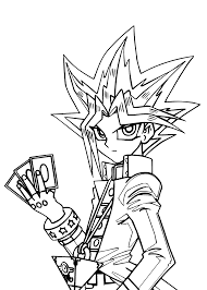 yu gi oh manga coloring pages for kids printable free coloring