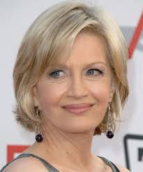 haircut for 60 year old with fine medium length hair diane sawyer medium straight casual hairstyle diane sawyer