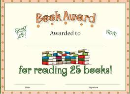 free printable reading awards free reading award certificates