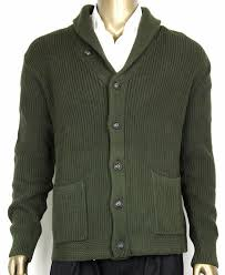 ralph sweater polo ralph green s cotton shawl cardigan sweater xl