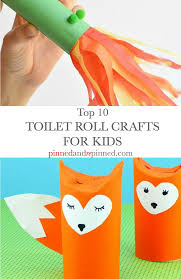 top 10 toilet roll crafts for kids pinned and repinned