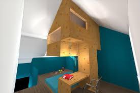chambre enfant comble cabane aménagement d une chambre d enfant d un bureau et d une