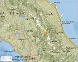 The Map Of Italy by M U003d6 2 Earthquake Strikes Central Italy 35 Km North Of The