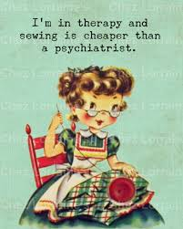 sew therapy a humorous sewing vintage retro altered fine art