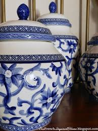 blue and white kitchen canisters our inspired home october 2012