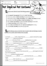 437 free esl past simple vs continuous tense worksheets