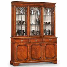3 Door Display Cabinet Classic 3 Door Display Cabinet Mahogany Amc94
