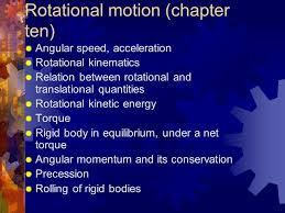 angular speed acceleration rotational kinematics relation