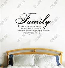 family like branches on a tree vinyl lettering wall sayings home