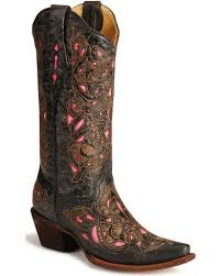 womens boots toe corral s laser pink inlay cowboy boots snip toe country