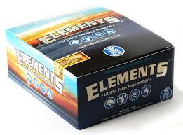 1 box elements slim king size ultra thin rice rolling paper