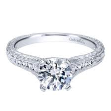 gabriel and co engagement rings gabriel co engagement rings white gold solitaire 14k