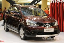 malaysia 24 july 2015 nissan nissan x gear 2014 1 6l a t in malaysia reviews specs