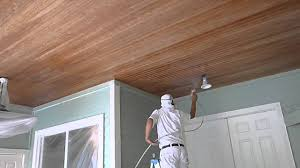 how to paint wood ceilings using graco airless sprayer florida