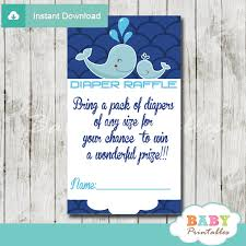 raffle baby shower blue whale baby shower scallop pattern raffle tickets