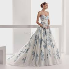 46 Pretty Wedding Dresses With by Wedding Dress Blue And White Wedding Ideas