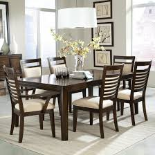 7 piece dining table set and upholstered chairs with ladder back 7 piece dining table set and upholstered chairs with ladder back wood detailing