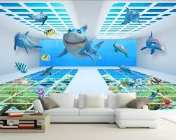 Shark Bedroom Curtains Shark Bedroom Curtains Custom 3d Underwater World Shark