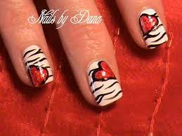 heart nails free design valentine u0027s heart nails nail art