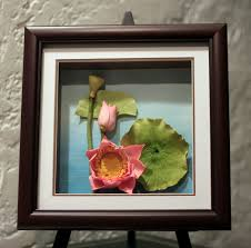 orchids clay oil painting original 3d home décor