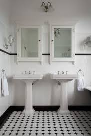 White Tiled Bathroom Ideas Vintage Style Bathroom With Black White Tile Claw Foot Tub