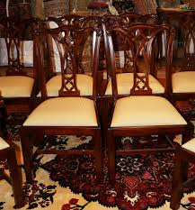 Chippendale Dining Room Table Antique Chairs