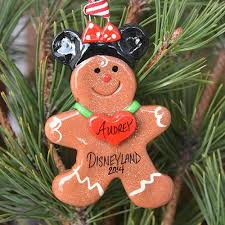 gingerbread ornaments gingerbread with mickey minnie ears ornament tis the season