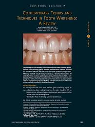 contemporary trends and techniques in tooth whitening a review
