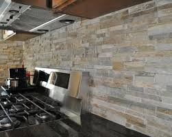 Perfect Nice Stacked Stone Kitchen Backsplash Best  Stacked - Layered stone backsplash