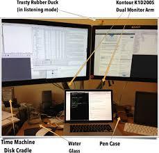 Three Monitor Desk Mac Os X My Three Screen Setup For Macbook Pro Retina U2014 Etherealmind
