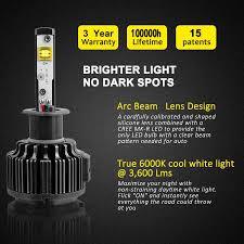 Led White Light Bulbs by 4x Dual Beam Headlight U0026 Fog Light Bulb Combo 9004 U0026 H3 Led B