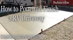 garage for rv how to pour a concrete rv driveway youtube