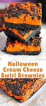halloween cream cheese swirl brownies blogger bests