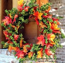 thanksgiving reefs fall reefs flora decor green apple fall wreath from ezpass club